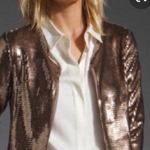 BB Dakota muted gold sequined jacket